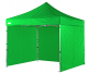 3m x 3m heavy duty pop up gazebo with sides in apple green