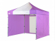 heavy duty pop up gazebo with sides 3m x 3m purple and white