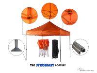 3m x 3m heavy duty orange pop up gazebo features