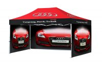 3m x 4.5m Branded Gazebo with Branded Walls -2 sided