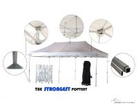 3m x 6m Heavy Duty Gazebo - White